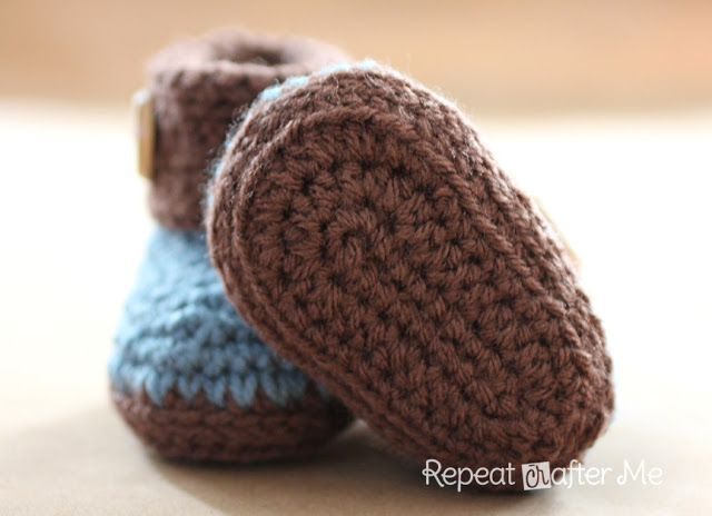 """Optional: Slip stitch around the bottom of the boot to create a thicker rim. I did this along the first """"rim"""" that was created from crocheti..."""
