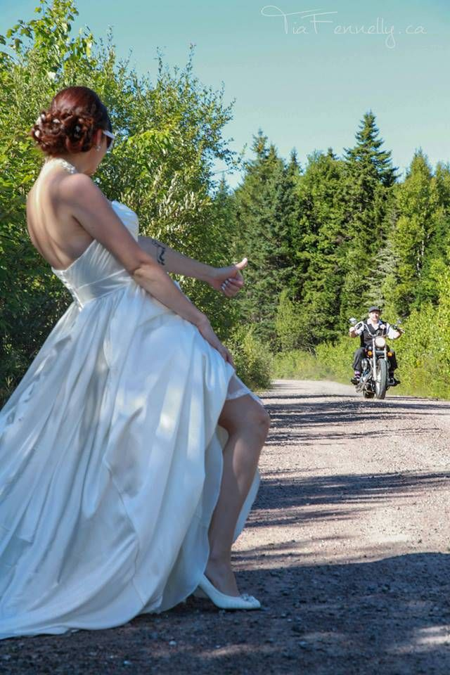 Wedding Photos - Having fun with the Harley OMG this is so Joni & Dee!!!