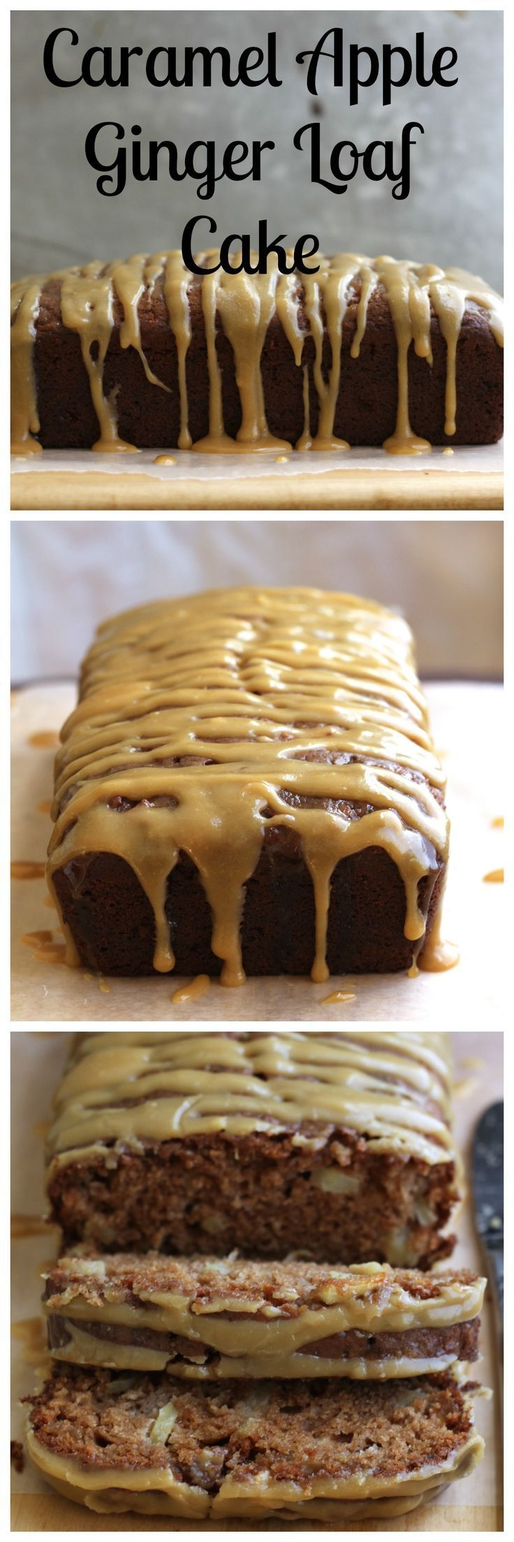 Caramel Apple Ginger Loaf Cake is especially nice to gift to friends around the holidays! {Brittany's Pantry}