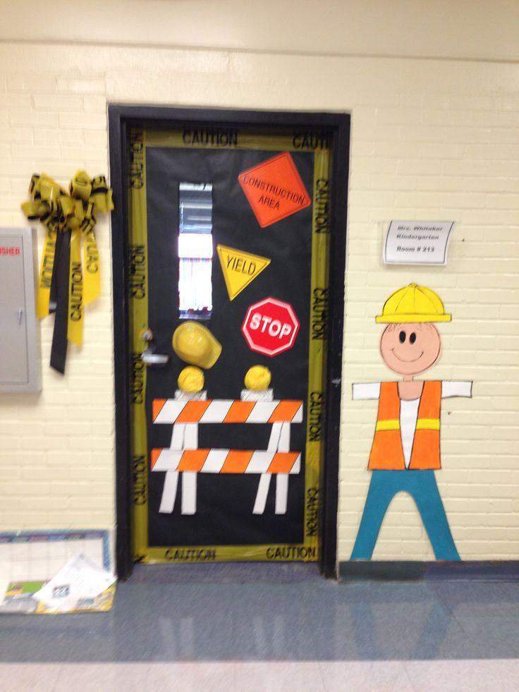 Construction themed classroom door idea