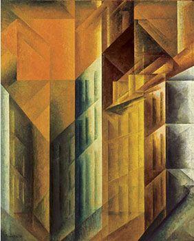 Lyonel Feininger | HOHE HÄUSER IV. 1919 | Öl auf Leinwand. 101 x 81 cm.
