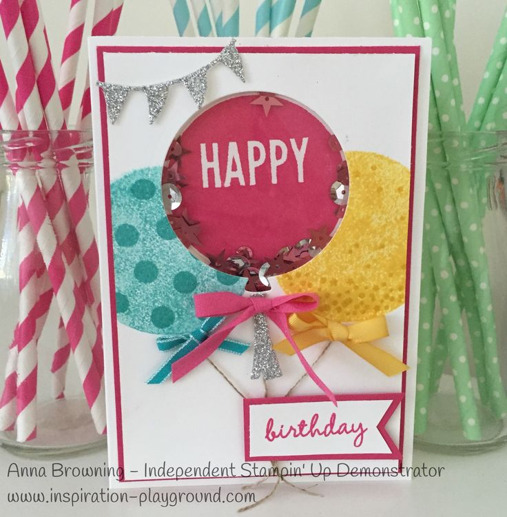 Stampin Up! Celebrate Today with Balloon Framelits