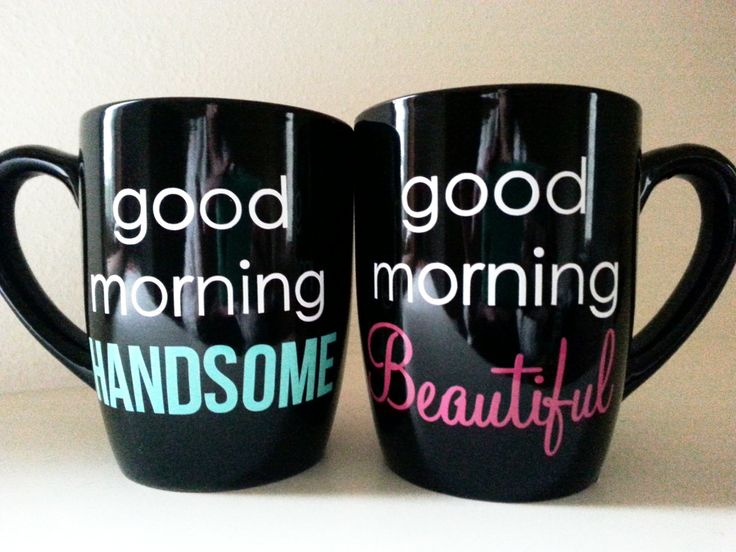 Good Morning Beautiful - Good Morning Handsome - Coffee Mugs - His and Hers - His and Hers Gifts - Good Morning Beautiful Mug - Good Morning by luxeloft on Etsy