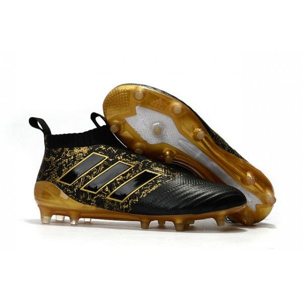 Paul Pogba New 2017 adidas ACE 17+ Purecontrol FG Soccer Cleats - Black Gold