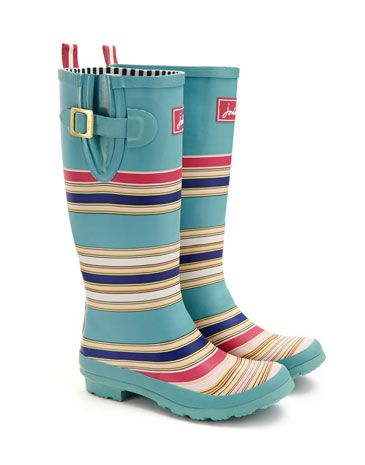 Joules WELLY PRINT Womens Rain Boot, Multstr. From festivals to farmyards and sea fronts to streams, our new printed wellies can be seen making a splash all across the land. Which pair will you pick?