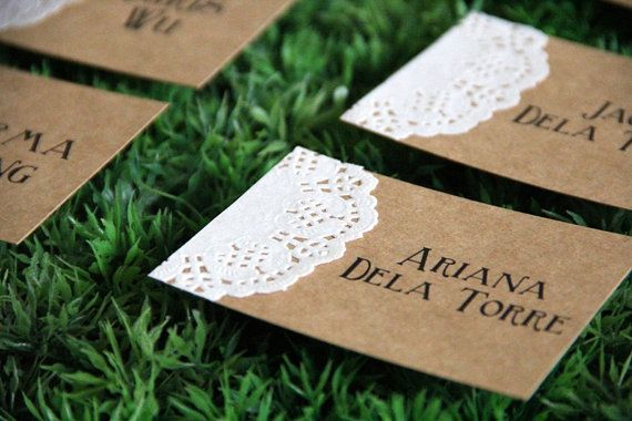 Not needing place cards but could use this idea for small signs on tables (favors, cupcake flavors etc)