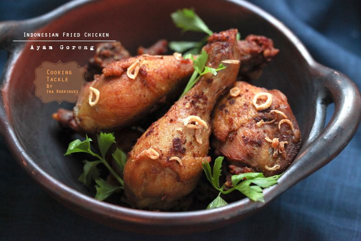 Indonesian Fried Chicken. Tasty at the same time lip-smacking!