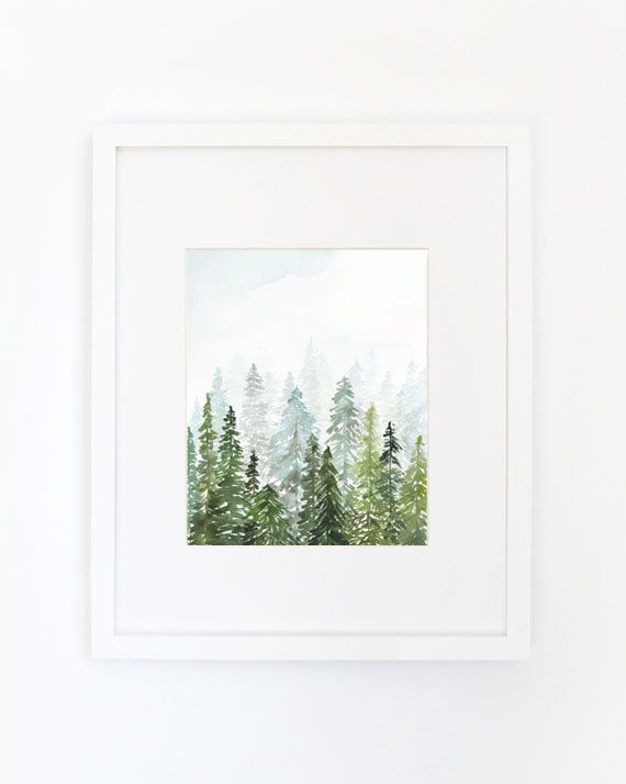 This is an archival inkjet print of the original watercolor. Inspired by a previous trip to the Adirondack mountains, Yao wanted to create a painting that really captured the depth and patterns she saw in the forests. PRINT SIZES: 8 x 10, 11 x 14, 16 x 20. For LARGER sizes please visit www.yaochengdesign.com  PAPER: Printed on an archival 100% cotton rag, 330gsm matte with archival inks.  FRAMING: We have partnered with Framebridge as our go-to for framed art prints! We personally love their…