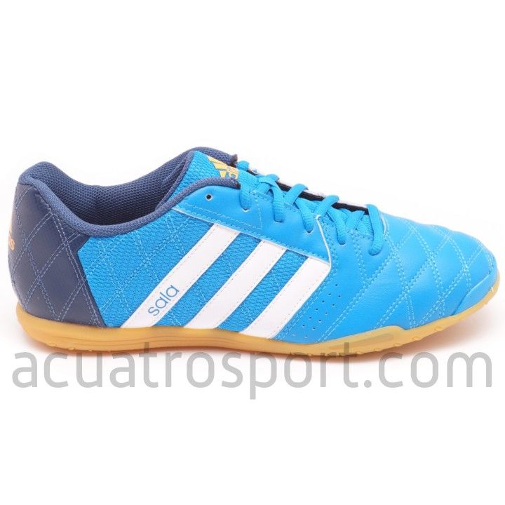 Botas de fútbol sala Adidas free football supersala con diseño clásico en tonos azules.  #futsal #supersala #adidas