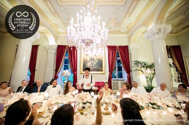 villa d'este wedding party