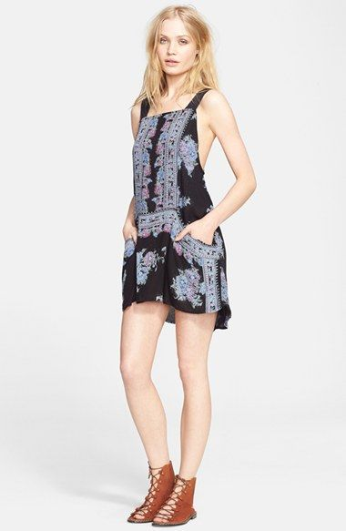 Free People 'Paradise Song' Print Tunic Dress available at #Nordstrom