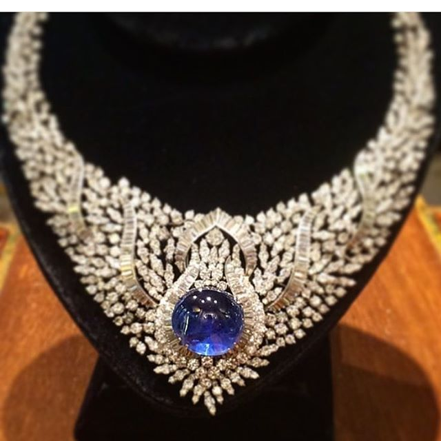 """An Impressive Diamond """"Bavaglio"""" Necklace accented by Eleuteri with the addition…"""