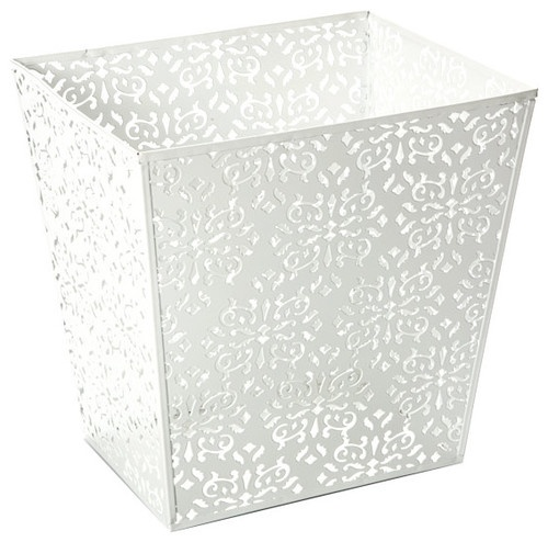 Brocade Waste Basket - contemporary - waste baskets - The Container Store