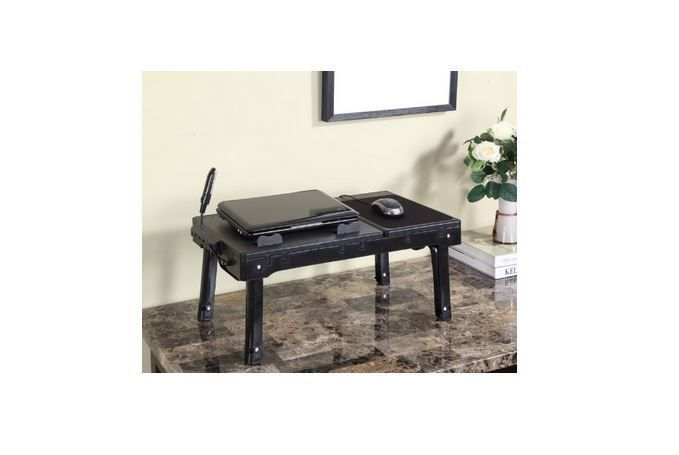 Laptop Table Stand Cooling Fan Usb Ports Portable Desk Folding