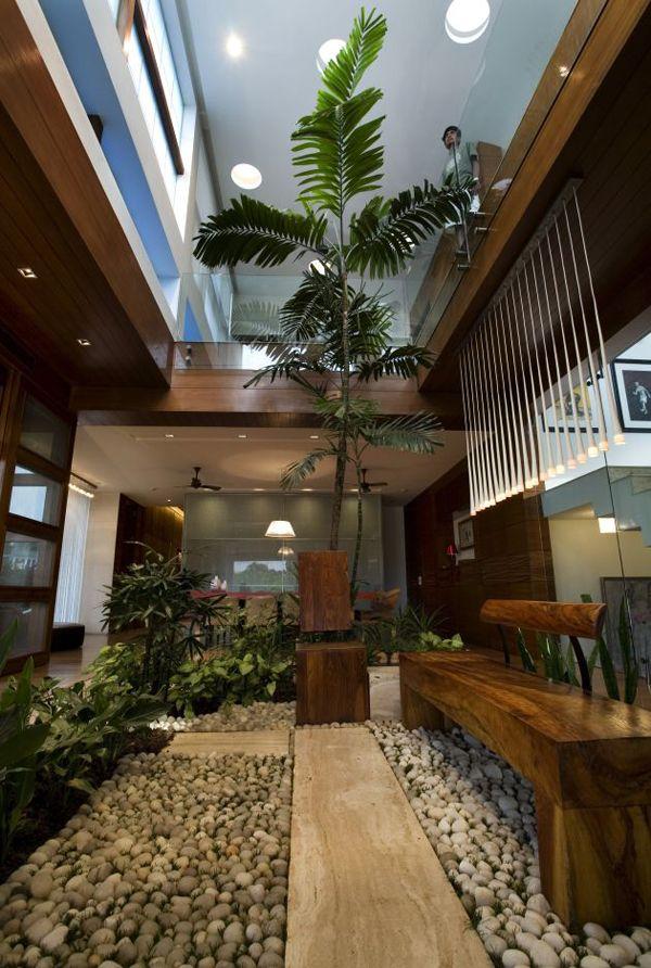 Modern Zen designed house in India: N85 Residence ... on Backyard:uuezyx-Hy-8= Landscape Design  id=30060