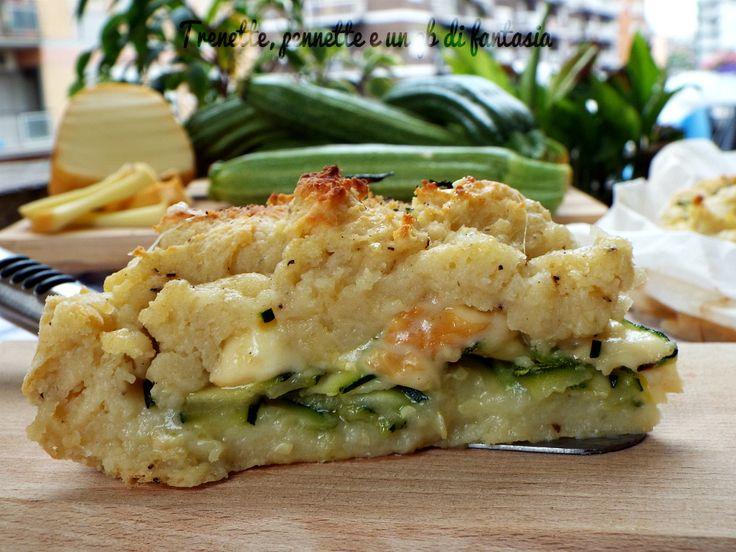 Sbriciolata+di+patate+zucchine+e+scamorza