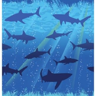 Shark Party Supplies, Shark Party Tablecovers, Shark Decorations