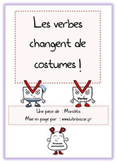 GENIAL Une pièce de théâtre (17 acteurs) pour comprendre la conjugaison avec un dictionnaire pour décor et des t-shirts pour costumes