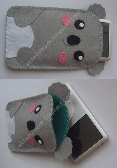 Koala Felt Case by ~AKhandmade