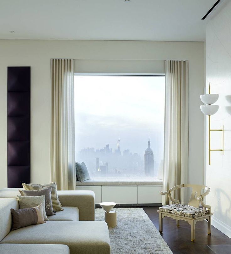 Living room in a 432 Park Ave Penthouse by Kelly Behun | Photo by Richard Powers