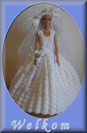 Haakpatroon trouwjurk barbie