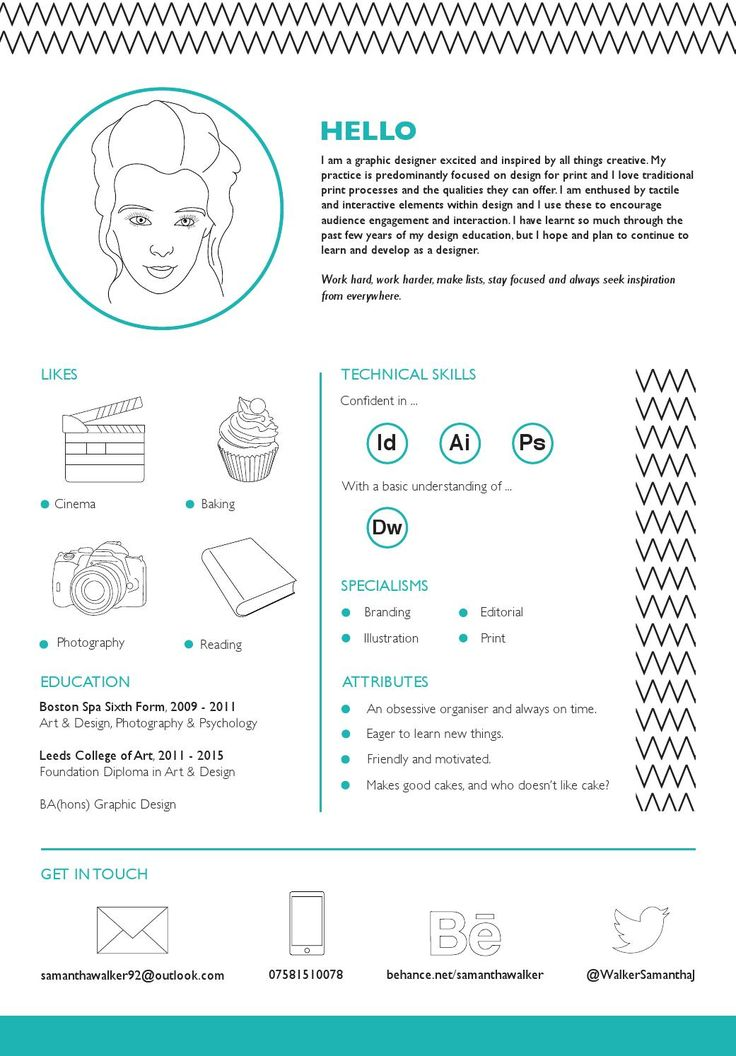 13 best Creative CV examples images on Pinterest | Creative resume ...