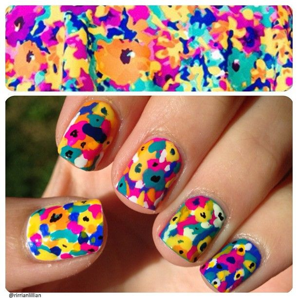 Copy cat: We love these floral nails from rirrianlillian! Show us your print-inspired tips—tag your nail photos with #SephoraNailspotting to be featured on our social sites!