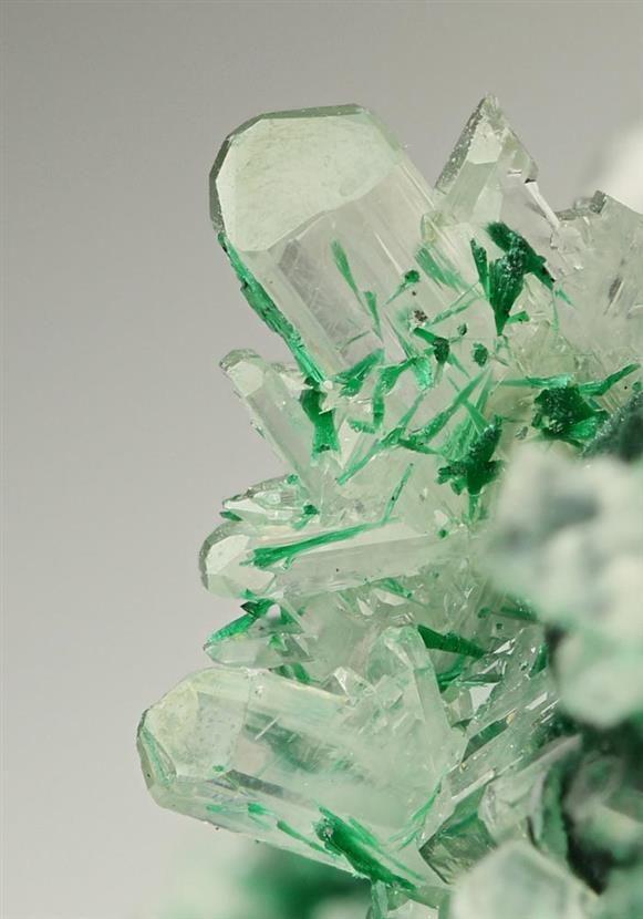 Cerussite with Malachite from Tsumeb Mine