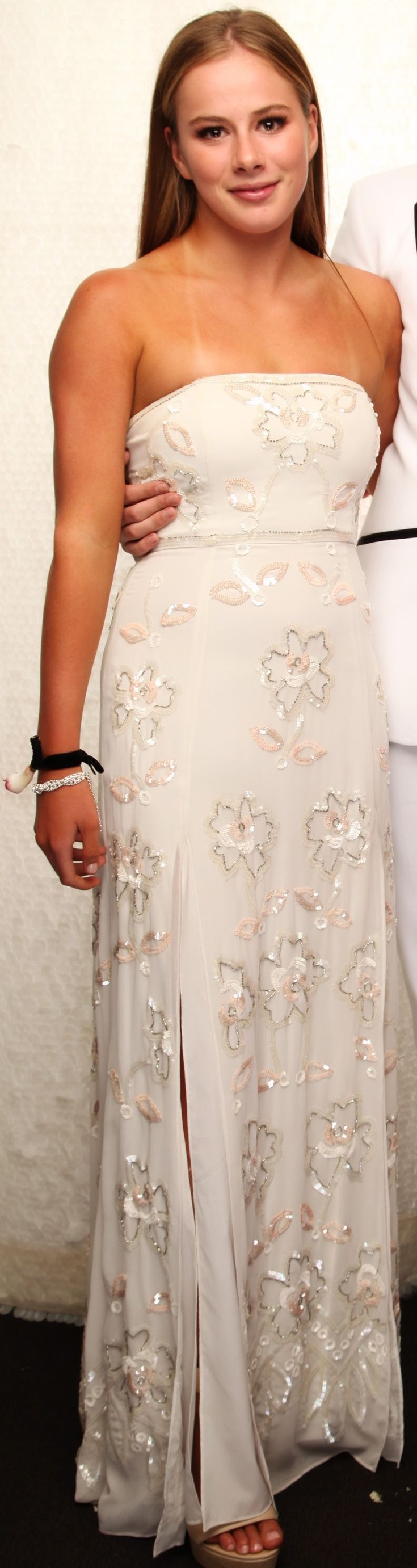 Glendowie Ball 2016. How beautiful is this beaded gown?! www.whitedoor.co.nz