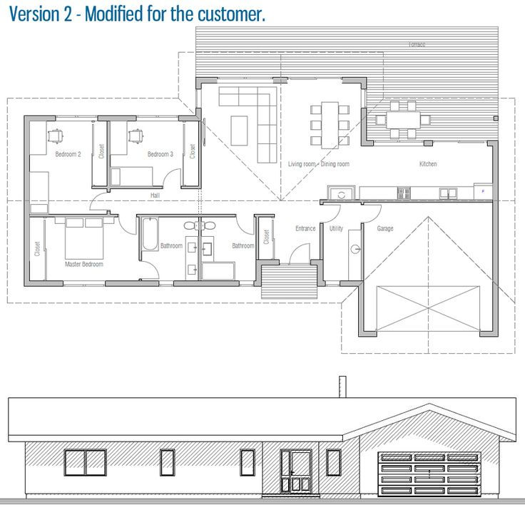 Modified house plan