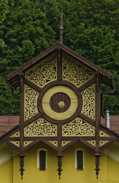 Architectural detail Krynica Zdroj, poland