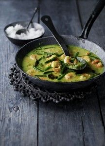 Look out for this interesting Keralan curry paste and fresh curry leaves on your next shop - it really livens up prawns.