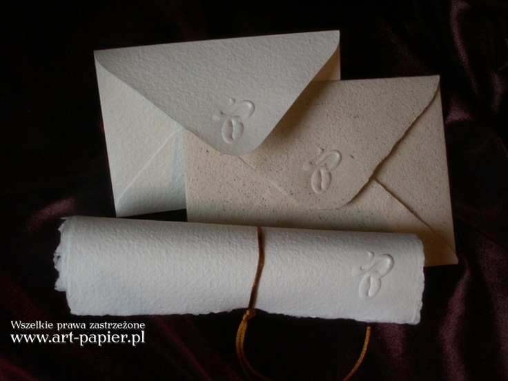 Papiery z suchym tłoczeniem -  Papiery ręcznie czerpane specjalne
