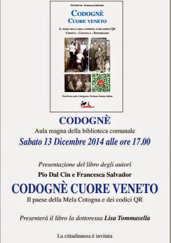 #Codognè  #codognecuoreveneto  #libri  #veneto #treviso  #codiciqr  #qrcodes Siamo pronti per la serata di presentazione del primo libro in #Italia  ad inserire contenuti multimediali come#v...