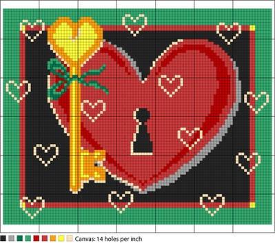 Here's My Heart Valentine Pattern
