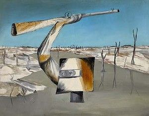 Sidney Nolan's 1955 painting Ned Kelly: Crossing the River