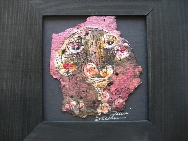 paint on torn tar paper