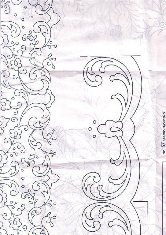 1145 best tul bordado images on pinterest embroidery - Manteles para navidad ...