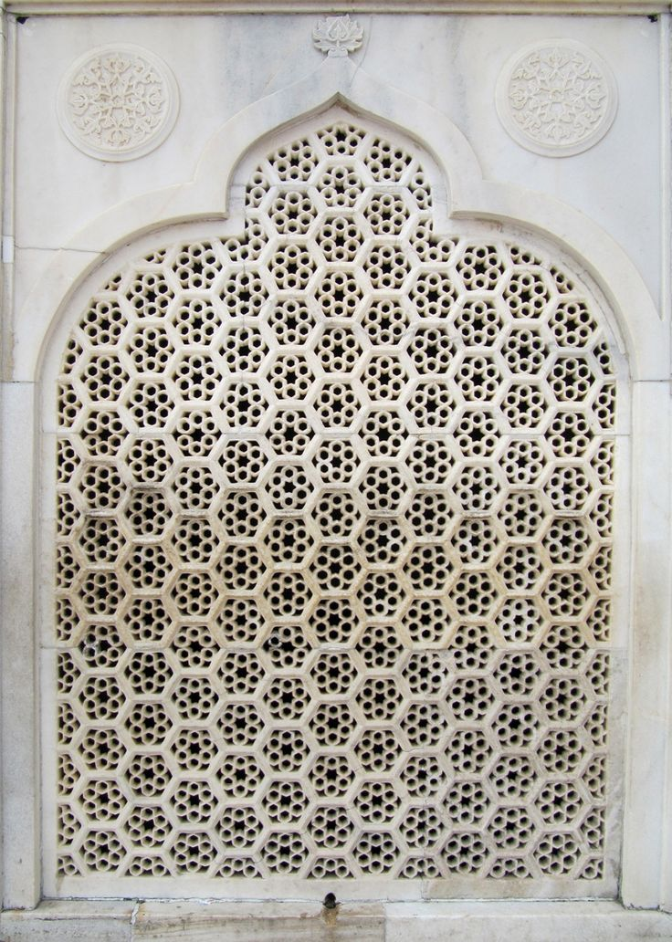 carved indian window