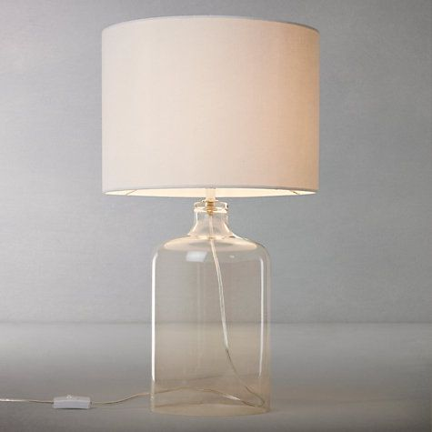 John lewis croft collection william glass bottle table lamp