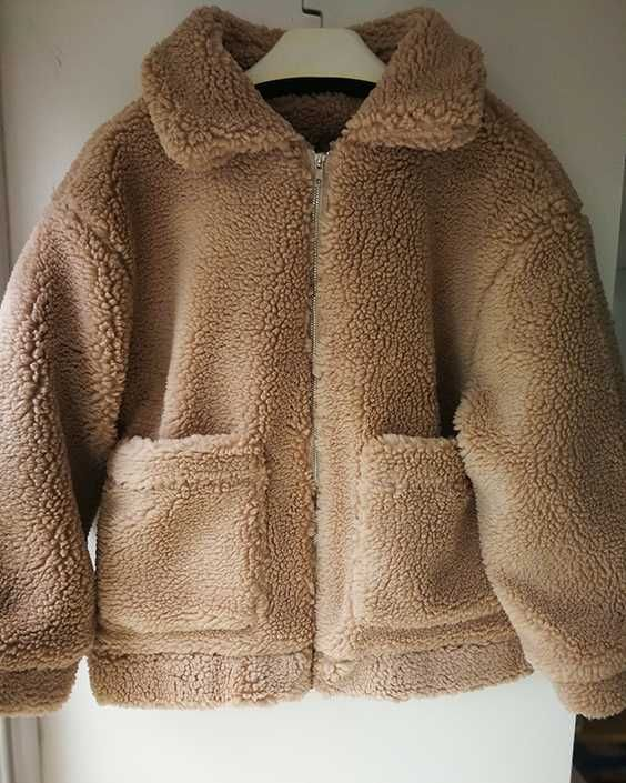 f9b5d0e0d6acb Get cozy fuzzy jacket brown by Cost less than  40 only with 15% OFF Xmas