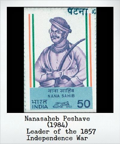 Nanasaheb Peshave (1984) – Leader of the 1857 independence war.
