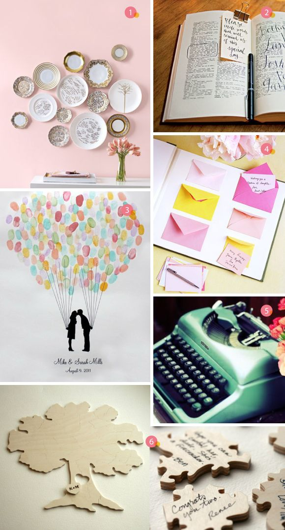 Guestbook ideas. All these are super cute ideas from an inspirational wedding blog!
