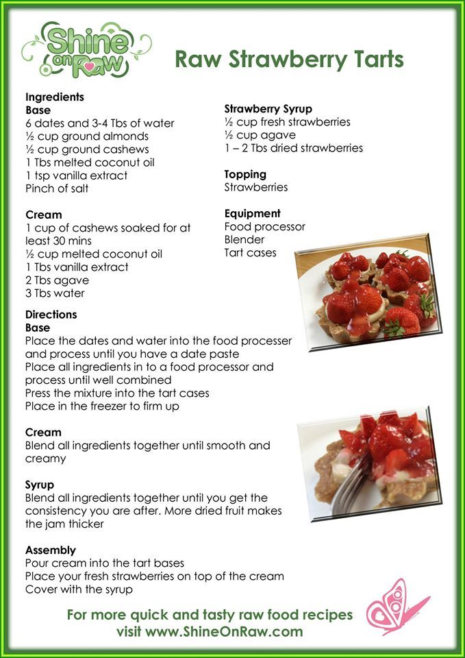 Raw Strawberry Tarts