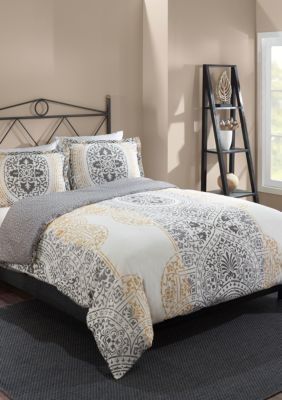 Marble Hill  Marble Hill Lacey Reversible 3-Piece Comforter Set - Multi - Full/Queen