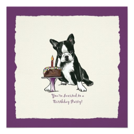 Boston Terrier Birthday Invite
