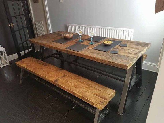 15++ 8 person dining table with bench Ideas