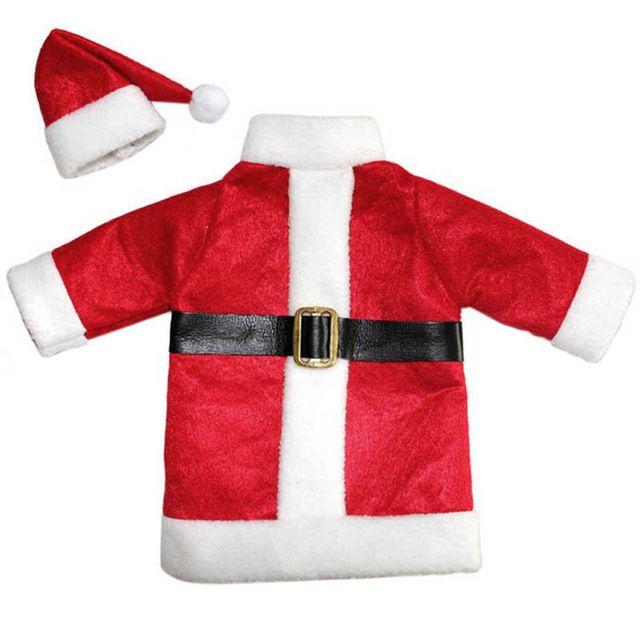 Горячие Рождественские Украшения Для Дома Красный Бутылки Вина Санта-Клауса Охватывает Одежда Со Шляпами enfeites de natal FEN #
