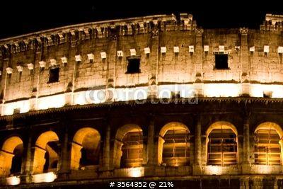 colosseo di notte di morgan capasso, foto stock royalty free #3564352 su Fotolia.com