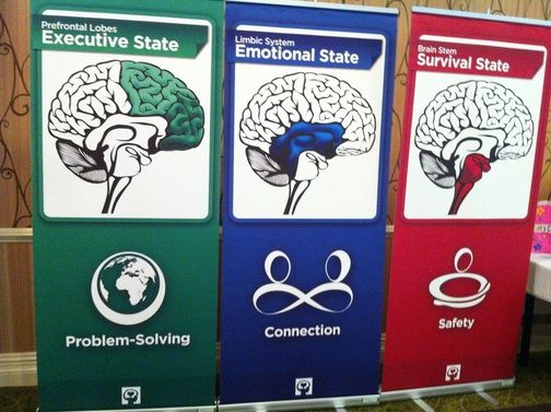 The Executive State is found in the cortex or frontal lobes of the brain.  This is where we can think, make rational decisions, problem solve, be organized, synthesize information, etc..  Very few...
